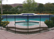 All-Safe fencing can be used to surround all types of pools and spas.